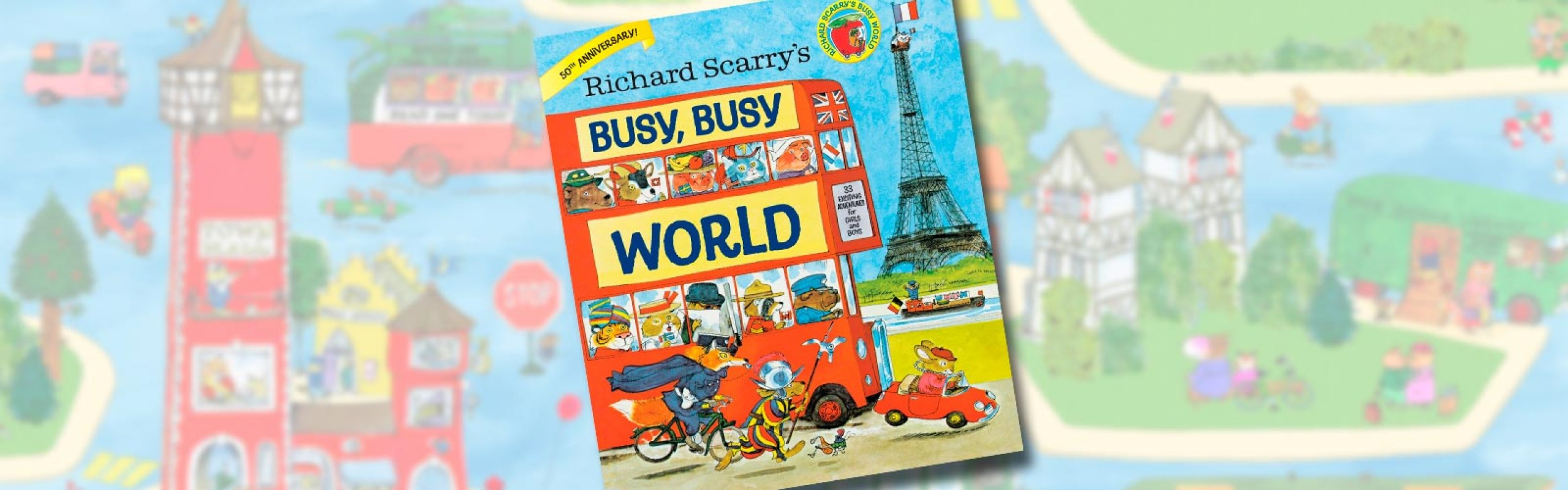 It's Storytime! BUSY, BUSY WORLD by Richard Scarry
